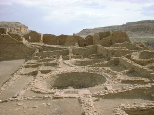 Between 800 A.D. and 1300 A.D., the people of Chaco Canyon in New Mexico built great cities and houses of 700 rooms.  Wide roadways led to other civilizations.