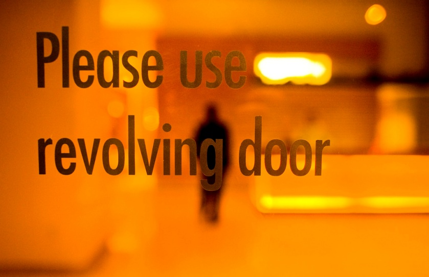 Revolving Door Slogan