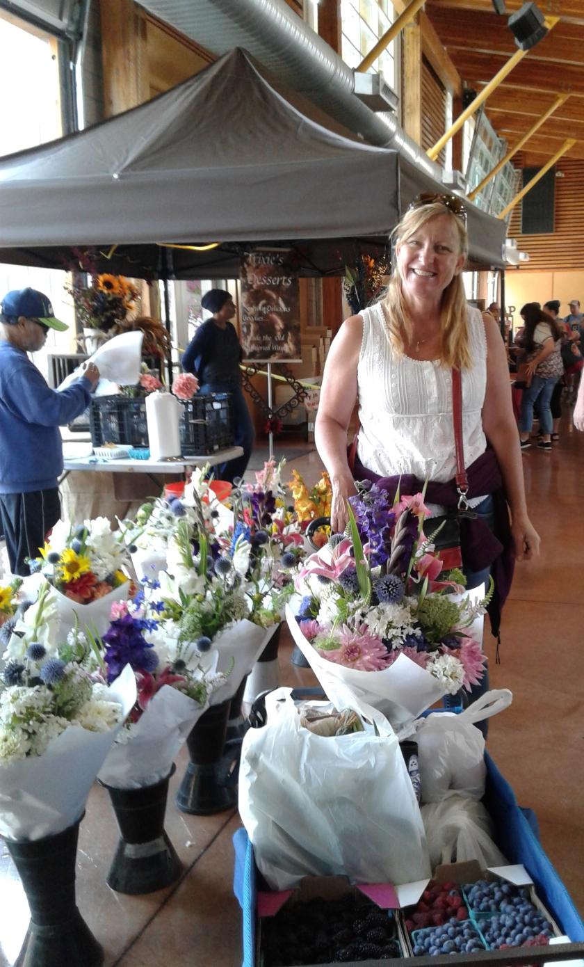 Suzi at Farmers Market