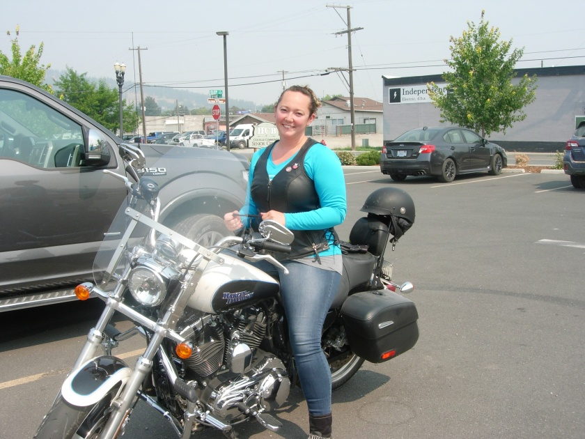Sarah and her Harley